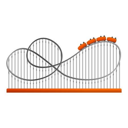 Amusement train track icon. Cartoon of amusement train track vector icon for web design isolated on white background