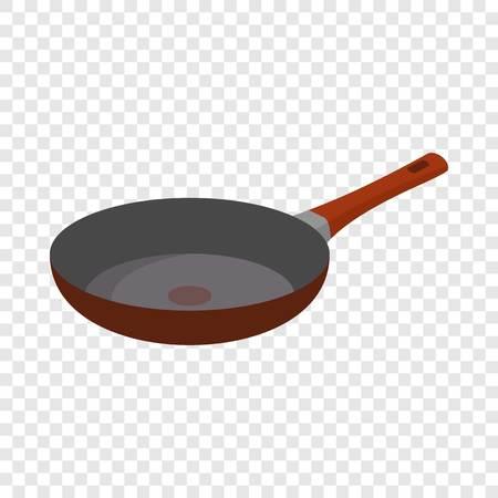 Hot griddle icon. Flat illustration of hot griddle vector icon for web design