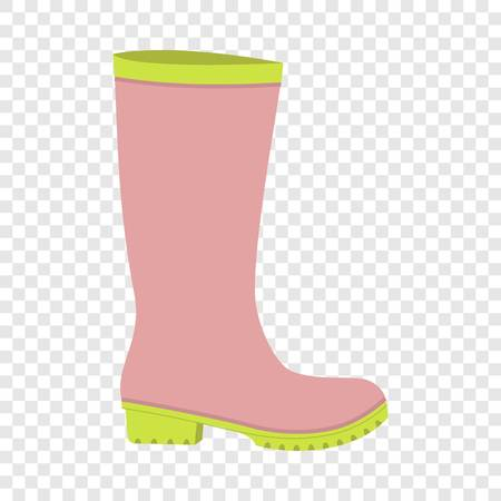 Rubber boot icon. Flat illustration of rubber boot vector icon for web design Vetores