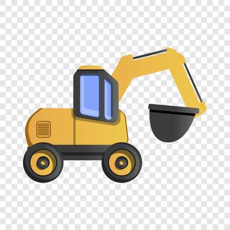 Symbol für Steinbruchmaschine. Karikatur des Steinbruchmaschinenvektorsymbols für Webdesign Vektorgrafik