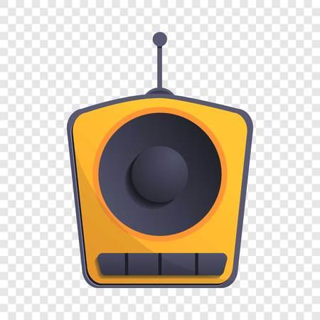 One speaker radio icon. Cartoon of one speaker radio vector icon for web design