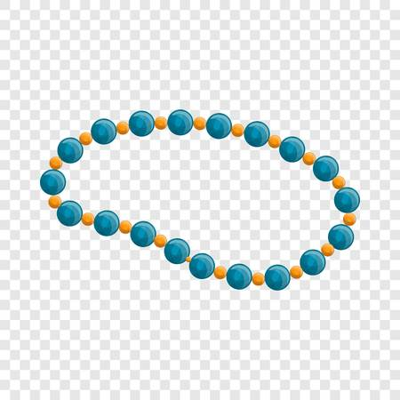 Blue pearl necklace icon. Cartoon of blue pearl necklace vector icon for web design Illustration