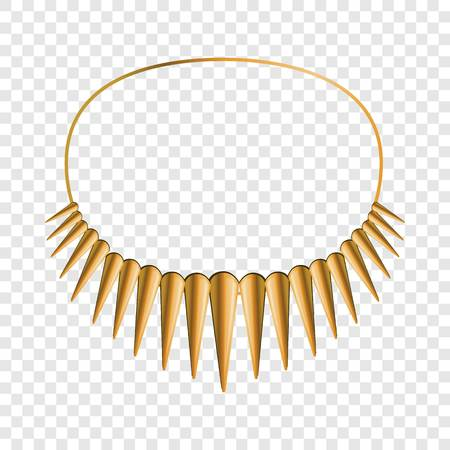 African necklace icon. Cartoon of african necklace vector icon for web design