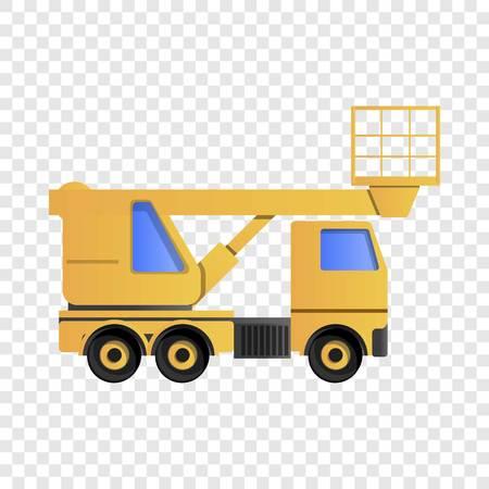 Icône de camion de levage. Caricature de l'icône vecteur camion de levage pour la conception web