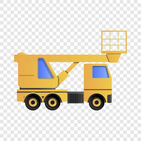 Lifting truck icon. Cartoon of lifting truck vector icon for web design  イラスト・ベクター素材