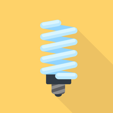 Energy saving bulb icon. Flat illustration of energy saving bulb vector icon for web design