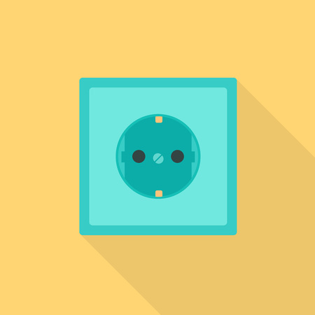 Electric socket icon. Flat illustration of electric socket vector icon for web design