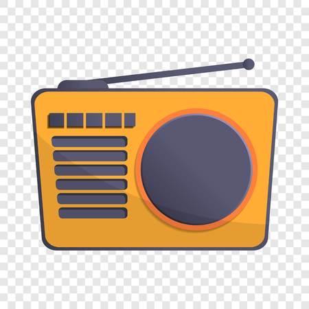 Radio antenna icon. Cartoon of radio antenna vector icon for web design