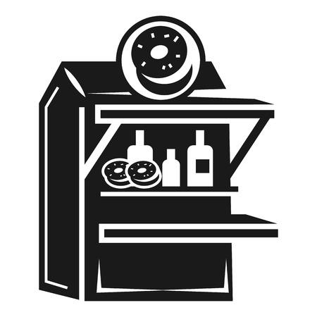 Donut kiosk icon. Simple illustration of donut kiosk vector icon for web design isolated on white background