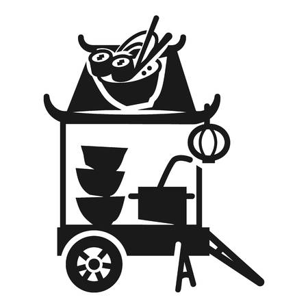 Sushi street cart icon. Simple illustration of sushi street cart vector icon for web design isolated on white background