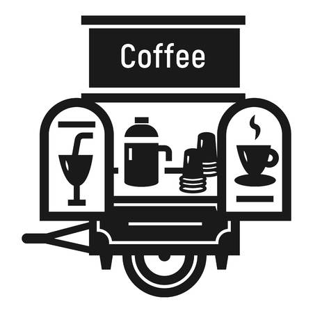 Coffee trailer icon. Simple illustration of coffee trailer vector icon for web design isolated on white background