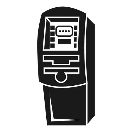 Street atm icon. Simple illustration of street atm vector icon for web design isolated on white background