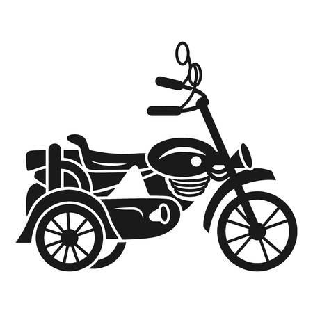 Motorbike carriage icon. Simple illustration of motorbike carriage vector icon for web design isolated on white background
