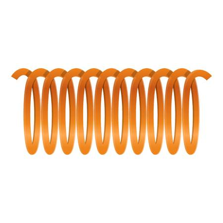Orange cable wire icon. Cartoon of orange cable wire vector icon for web design isolated on white background