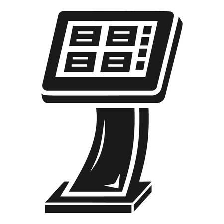Info vending machine icon. Simple illustration of info vending machine vector icon for web design isolated on white background Illustration