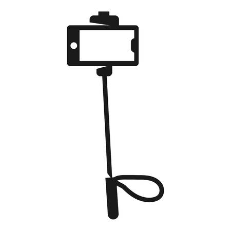 Selfie smartphone stick icon. Simple illustration of selfie smartphone stick vector icon for web design isolated on white background