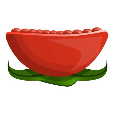 Pomegranate icon. Cartoon of pomegranate vector icon for web design isolated on white background Foto de archivo - 113609852