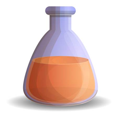 Orange potion icon. Cartoon of orange potion vector icon for web design isolated on white background Vectores