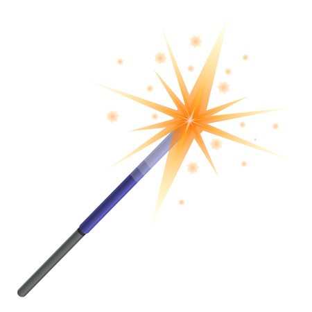Sparkler icon. Cartoon of sparkler vector icon for web design isolated on white background