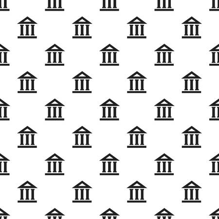 Bank building pattern seamless vector repeat for any web design
