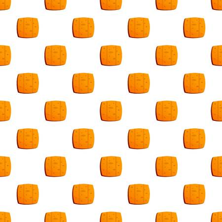 Cracker biscuit pattern seamless vector repeat for any web design