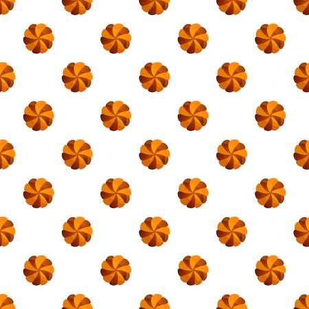 Swirl cookies pattern seamless vector repeat for any web design