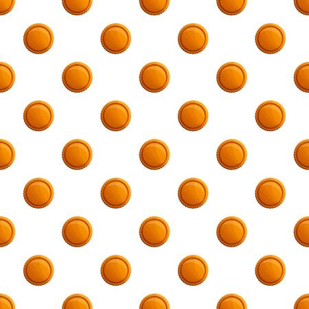Tasty round biscuit pattern seamless vector repeat for any web design Illustration