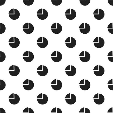 Chart pie pattern seamless vector repeat for any web design