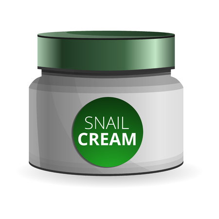 Snail cream icon. Cartoon of snail cream vector icon for web design isolated on white background