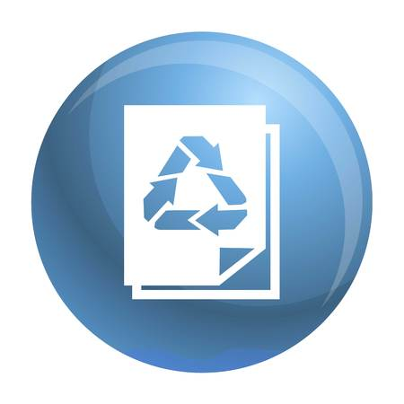 Recycle paper icon. Simple illustration of recycle paper icon for web design isolated on white background
