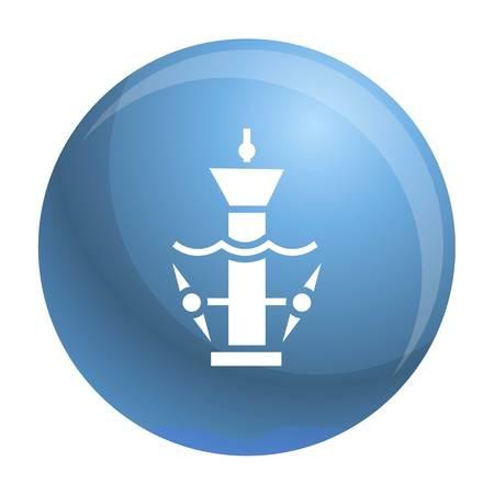 Underwater turbine icon. Simple illustration of underwater turbine icon for web design isolated on white background Фото со стока