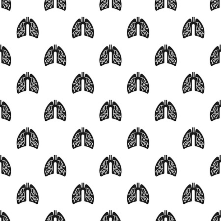 Pneumonia lungs pattern seamless repeat for any web design