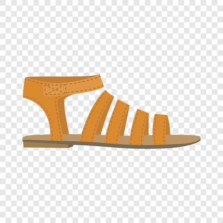 Summer woman sandal icon. Flat illustration of summer woman sandal vector icon for web design Illustration