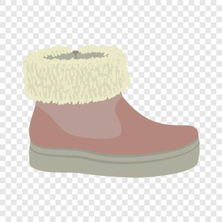 Winter woman shoe icon. Flat illustration of winter woman shoe vector icon for web design