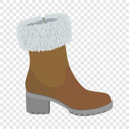 Top winter shoe icon. Flat illustration of top winter shoe vector icon for web design 向量圖像