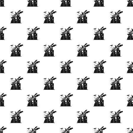 War fire city pattern seamless vector repeat for any web design