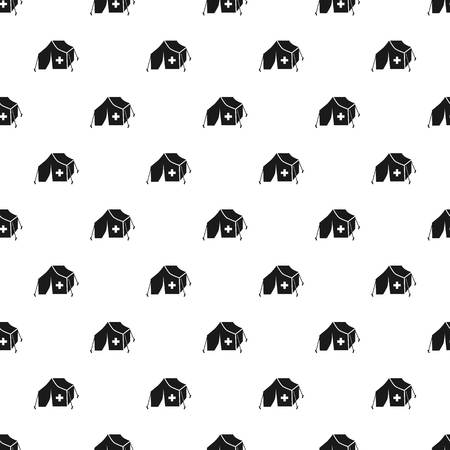 Migrant help tent pattern seamless vector repeat for any web design