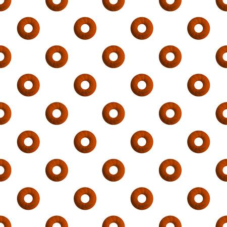 Donut cookies pattern seamless vector repeat for any web design Иллюстрация