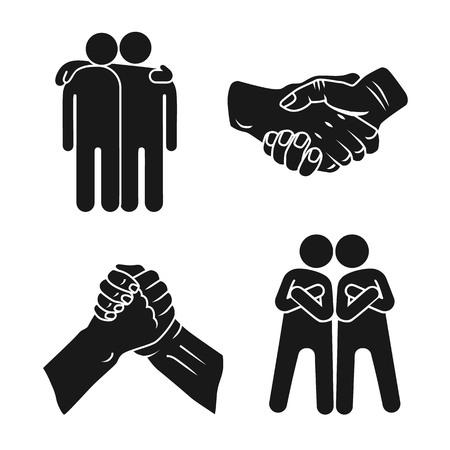 Jeu d'icônes de fraternité. Ensemble simple d'icônes vectorielles de fraternité pour la conception web sur fond blanc