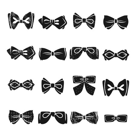 Bowtie icon set. Simple set of bowtie vector icons for web design on white background