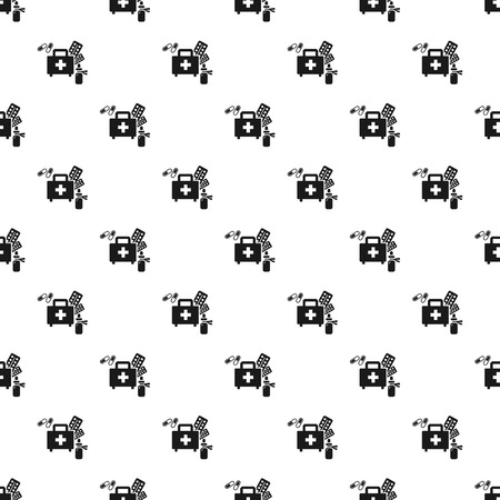 Homeless first aid kit pattern seamless vector repeat for any web design