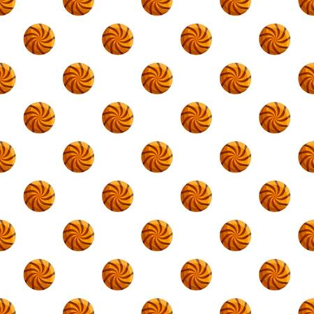 Swirl biscuit pattern seamless vector repeat for any web design