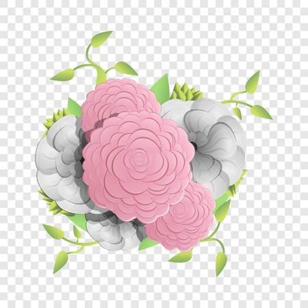Natural camellia concept background. Cartoon illustration of natural camellia vector concept background for web design Illustration