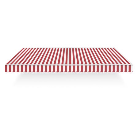 Red white overhang icon. Realistic illustration of red white overhang vector icon for web design isolated on white background