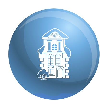 Icône de la maison traditionnelle. Simple illustration de l'icône vecteur maison traditionnelle pour la conception web isolé sur fond blanc Vecteurs