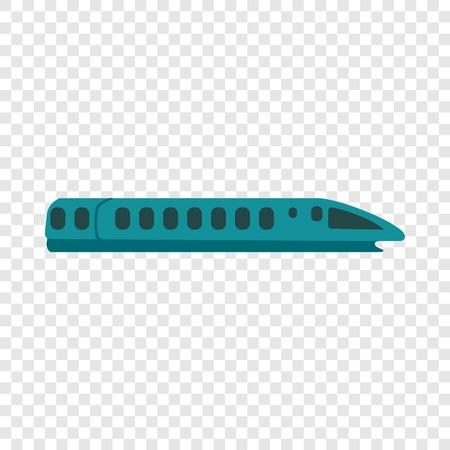 Speed train icon. Flat illustration of speed train vector icon for web design Illustration