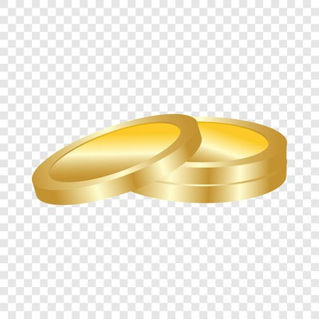 Gold coin icon. Realistic illustration of gold coin vector icon for web design for web design