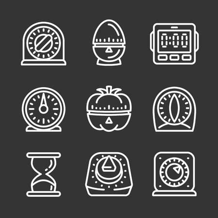 Phishing icon set. Outline set of phishing icons for web design isolated on gray background