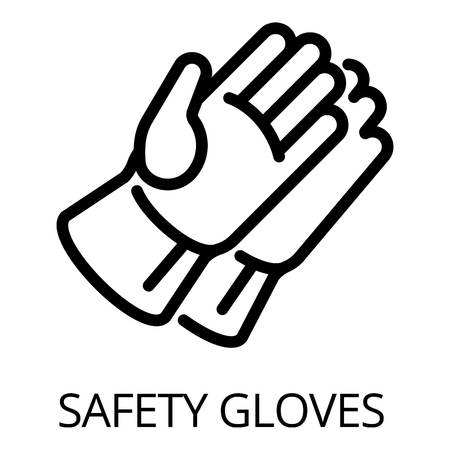 Welder safety gloves icon. Outline welder safety gloves icon for web design isolated on white background Stock Photo