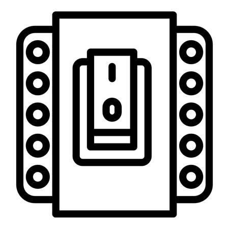 Electric switch icon. Outline electric switch icon for web design isolated on white background